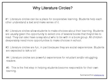 How to Begin Literature Circles