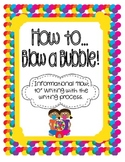 How to Blow a Bubble with Gum Informational {Differentiated} Writing