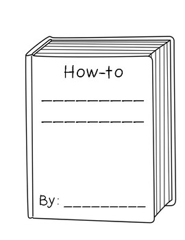 How-to Book Shape Writing Template (Cover)