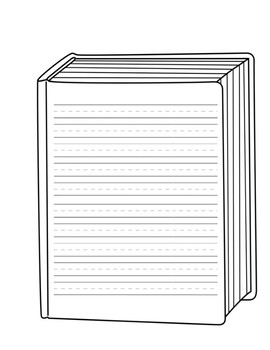 How-to Book Shape Writing Template (Lined Writing Page)