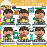 How to Brush Your Teeth: Sequencing and Hygiene Clip Art