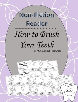 How to Brush Your Teeth Nonfiction Book with Close Activities