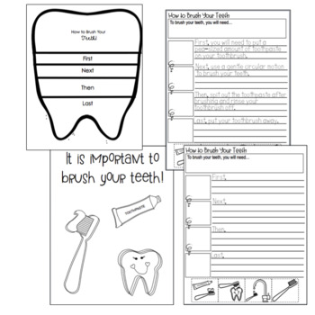 How to Brush Your Teeth Writing & Crafts