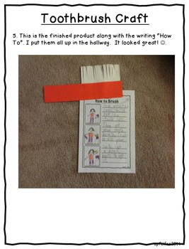 How to Brush and Take Care of Teeth- Sequencing and Writing
