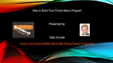 How to Build Your Choral Music Program