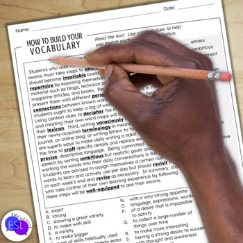 How to Build Your Own Vocabulary:  a Logical Order Writing Activity