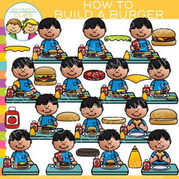 How to Build a Burger Clip Art
