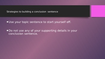 How to Build a Conclusion Sentence