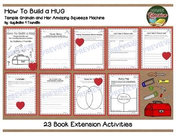 How to Build a Hug Temple Grandin Biography 23 Book Extension Activities NO PREP