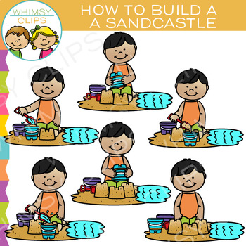 How to Build a Sandcastle: Sequencing and Summer Clip Art
