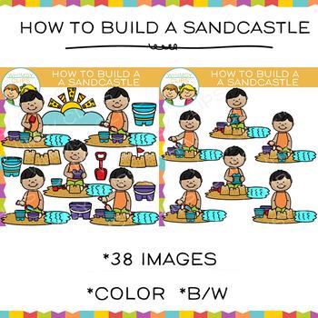 How to Build a Sandcastle Clip Art