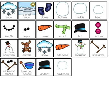 How to Build a Snowman Adapted Book ( Level 1 and Level 2 ) Snowmen Books