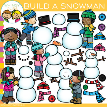 How to Build a Snowman Clip Art