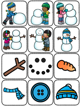 How to Build a Snowman {Flipbook & Sequencing Cards}