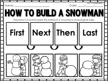How to Build a Snowman| How to Make a Snowman | Snowman Writing and Sequence