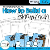 How to Build a Snowman Sequencing and Writing Activity
