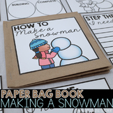 How to Build a Snowman Paper Bag Book