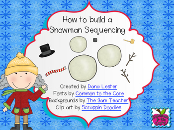 picture regarding 4 Step Sequencing Pictures Printable named How toward Establish a Snowman Sequencing- Free of charge!