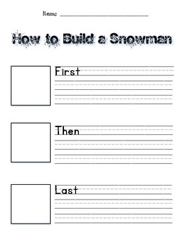 How to Build a Snowman Version 2