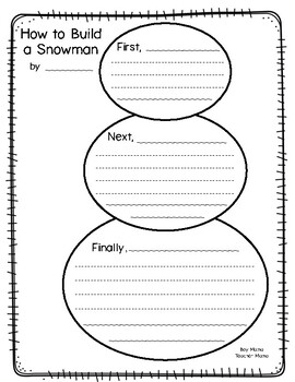 How to Build a Snowman Writing Activity and Paper