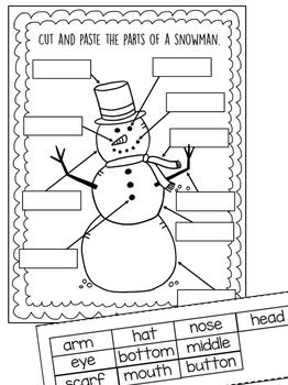 How to Build a Snowman Writing Activties