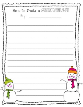 How to Build a Snowman Writing Bundle