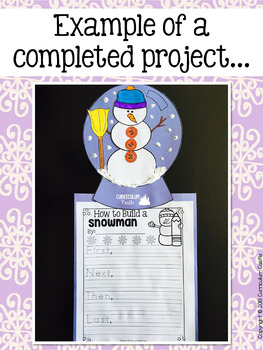 How to Build a Snowman Writing Activity!