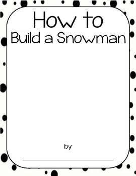 How to Build a Snowman Writing Template