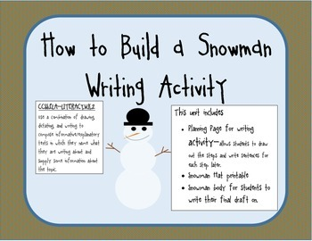 How to Build a Snowman Writing Unit