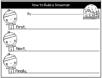 Snowman How to Writing and Craftivity