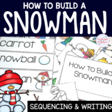 How to Build a Snowman Writing for Kindergarten and 1st Grade