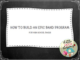 How to Build a Successful Band Concert Grades 4-12