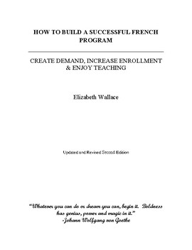 How to Build a Successful French Program