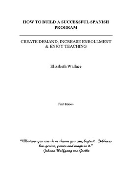 How to Build a Successful Spanish Program