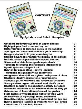 Syllabus & Rubrics for Active Learning in High School and Higher Ed.