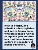 Syllabus & Rubrics for Active Learning in High School and