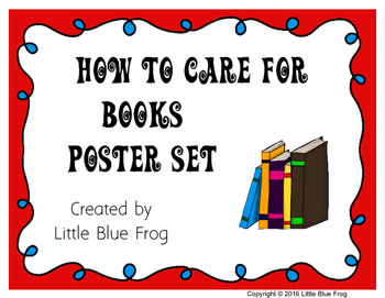 How to Care for Books poster set