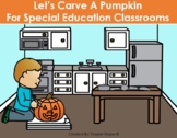 How to Carve A Pumpkin Adapted Book and Leveled Worksheets
