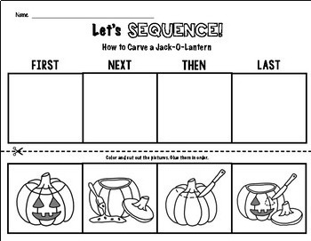 How to Carve a Jack-O-Lantern Sequencing FREEBIE