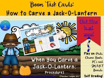 How to Carve a Jack-o-Lantern: BOOM Digital Task Cards: