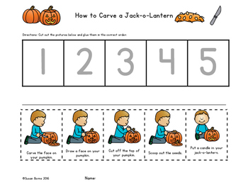 How to Carve a Jack-o-Lantern Sequencing