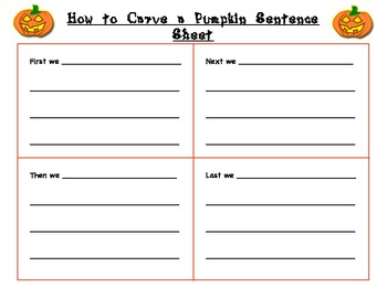 How to Carve a Pumpkin Activity