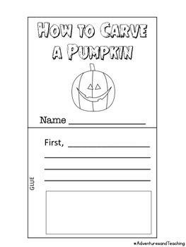 How to Carve a Pumpkin Flipbook Craftivity