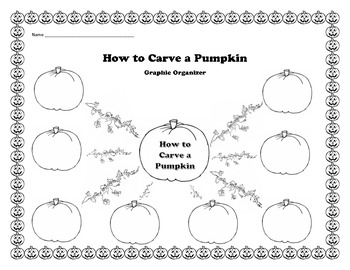 How to Carve a Pumpkin Graphic Organizer