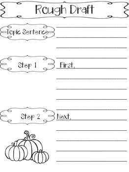 How to Carve a Pumpkin {How-To Writing/Writing Directions}