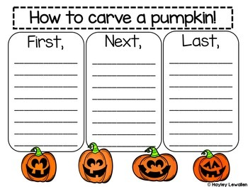 How to Carve a Pumpkin Informational How To Writing