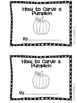How to Carve a Pumpkin- Make your own How To book!-