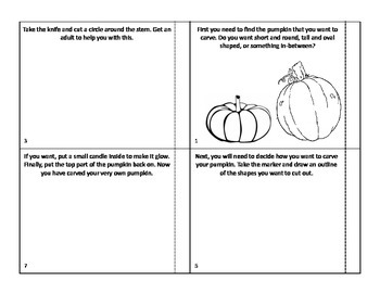 How to Carve a Pumpkin Sequence Book