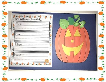 How to Carve a Pumpkin Sequential Order Craft and Writing  Activity