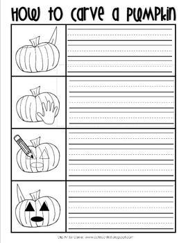 How to Carve a Pumpkin Writing FREEBIE